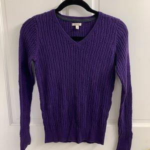 Sonoma Purple V Necks Sweater Size XS